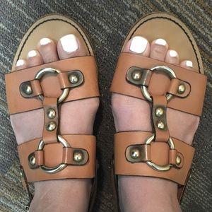 J Crew Leather Sandals Size 6